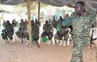 Uganda's commander of Land Forces visits troops in Somalia