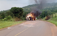 Kenyan driver killed in Kiboga fuel tanker fire