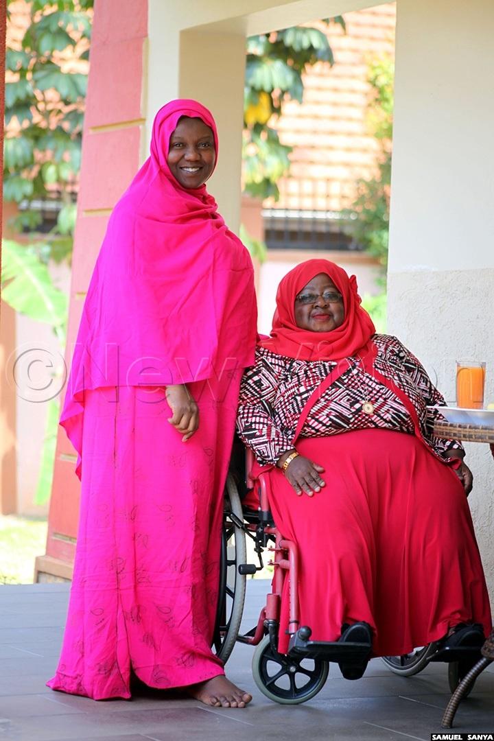 Asher Namatovu and her sister Aminah Nalubega