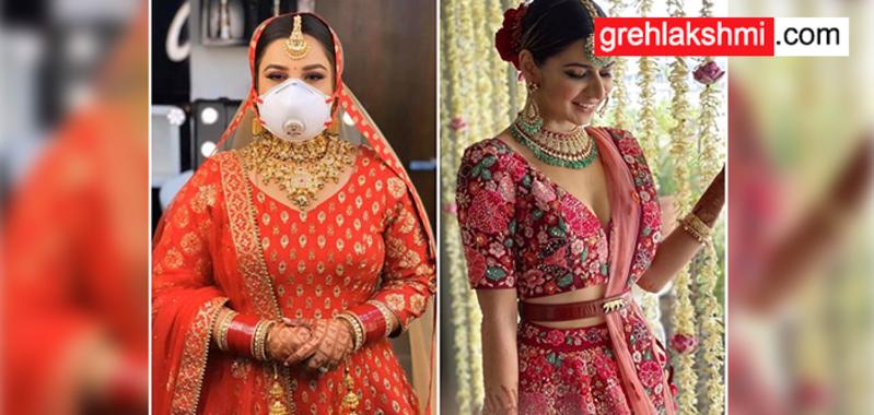 कोरोना के कहर में ऐसे तैयार हो रहे दूल्हा-दुल्हन अपनी शादी में (watch photos)