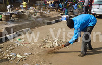 Karuma leaders clean town