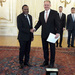 Ambassador Tibaleka presents credentials to Slovak President