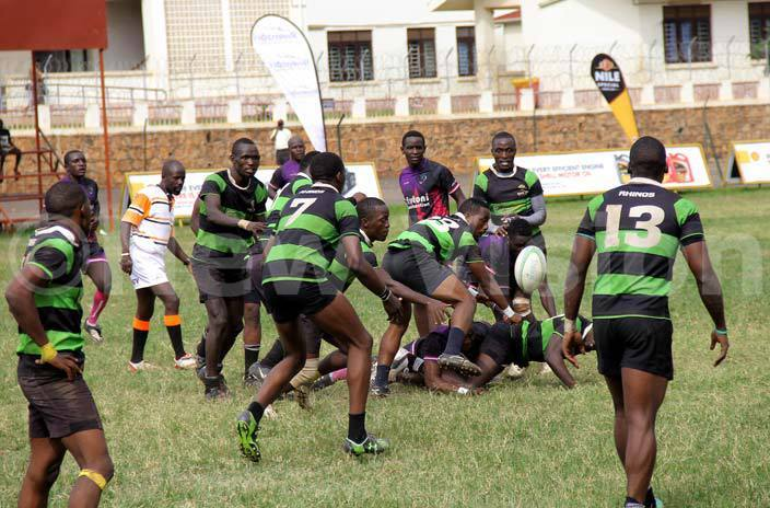 hinos players in reen battle for the ball with arriors players arriors won 1813