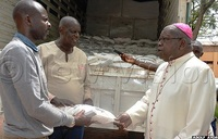 COVID-19: Archbishop Bakyenga donates over 5000kg of posho