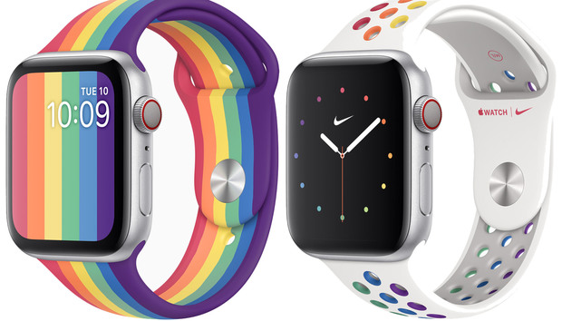Apple Watch Pride Edition bands pair straps with custom faces for an all-over rainbow