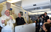 Transcript of Pope Francis' press conference aboard papal flight