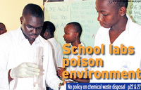 School chemistry labs raise cancer risks