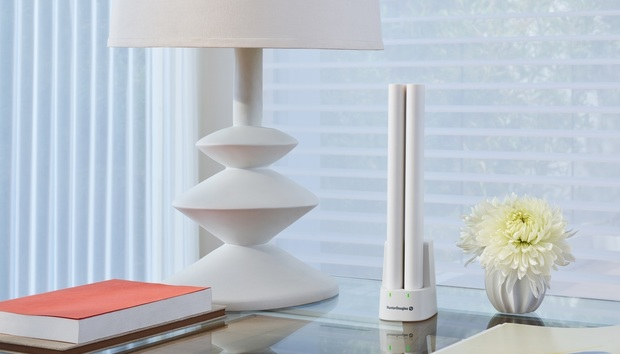 Hunter Douglas has a rechargeable battery option for its motorized window shades