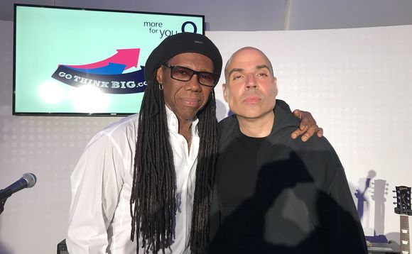 Founder Merck Mercuriadis (right) with musician Nile Rodgers