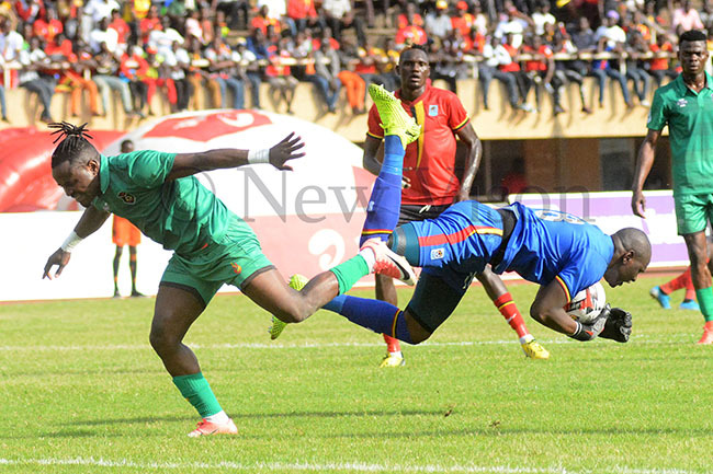 ranes ennis nyango right saves  from alawis ellings hango abadhino during an  qualifier at amboole ovember 17 2019