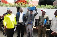 Kabale farmers receive apple seedlings