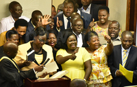 Newly elected NRM MPs sworn in