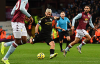 'Legend' Aguero makes history as Man City hit Villa for six