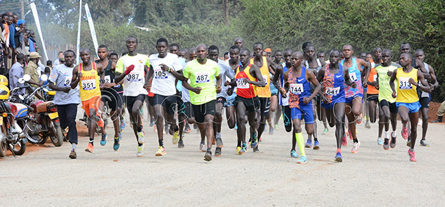 articipants in the 10km run in action during the eamganda okyo 2020 run at the oma round in apchorwa arch 7 2020