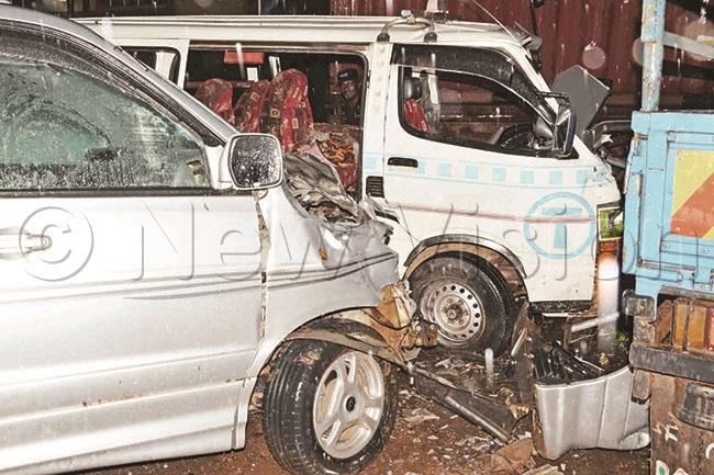 collision on inja oad that left several people injured