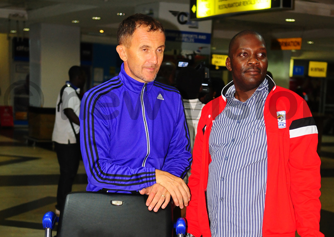 ranes coach icho redojevic pictured with deputy   umphrey andu hoto by ulius enyimba
