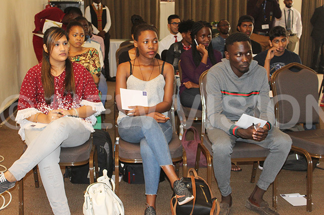 university students attending the launch of a new academic programme