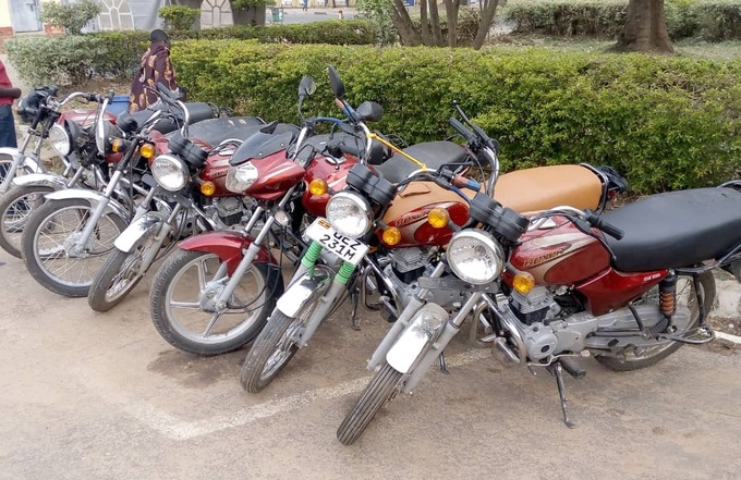 ome of the recovered motorcycles