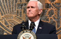 US vice-president exits game after anthem protest