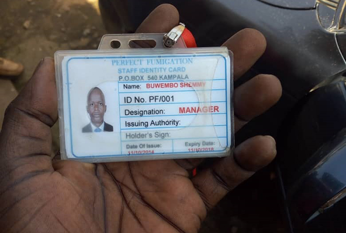 he identification card that was found on the suspect ourtesy hoto