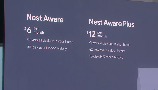 Nest Aware plans will be much less expensive in 2020