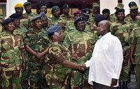 President Museveni hosts Zimbabwe army officers