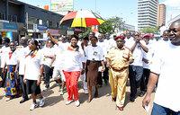 Kadaga leads MPs in jubilee charity walk