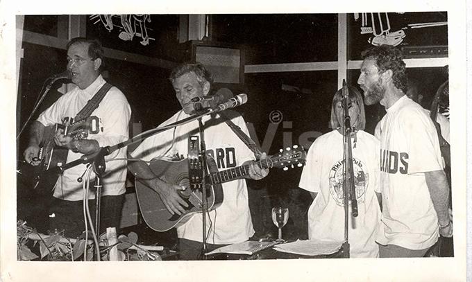 he arlords band playing jazz at the opening of hino ub in ay 1992