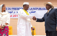 Museveni attends Chad president's inauguration