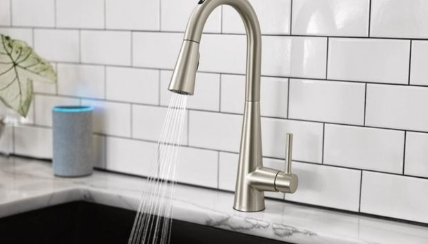 The U by Moen Smart Faucet can dispense an exact amount of water at a precise temperature