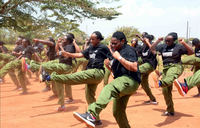 Top managers excite participants during parade at Kyankwanzi