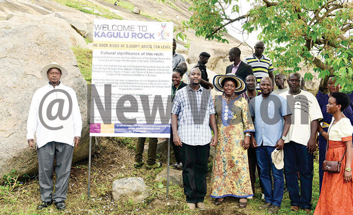 useveni the yabazinga of usogapeaker ebecca adaga odfrey iwanda during a tourism promotion drive of agulu ock
