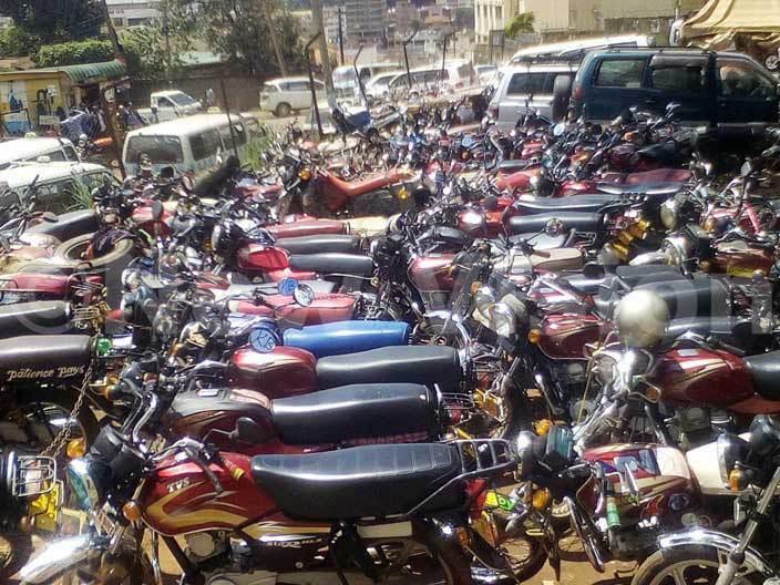 mpounded boda bodas at old ampala police station on 09052016 hoto by awrence ulondo