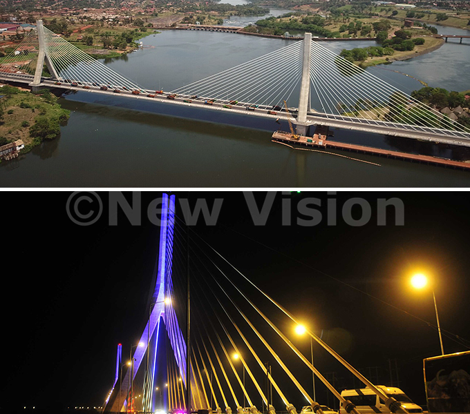 he ource of the ile ridge also ew inja ridge which was commissioned on ctober 17 2018 by the resident useveni is a cablestayed bridge across the ictoria ile in ganda t replaced the alubaale ridge which was built in 1954