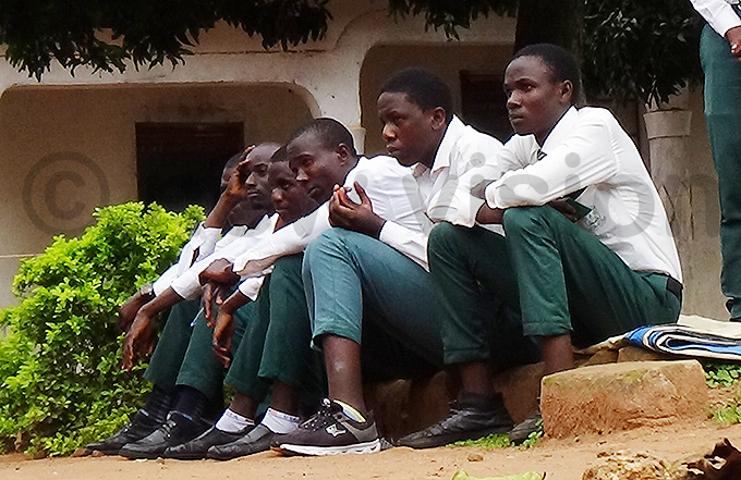 ome of the students who were barred from sitting for the exams on onday morning hoto by van akibi