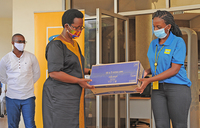 MTN donates pads to women in COVID-19 isolation centres