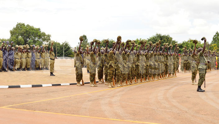 oldiers doing rehearsals for the presidential swearingin ceremony at ololo ndependence rounds hotohamim aad