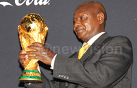 Soccer World Cup trophy on its way to Uganda