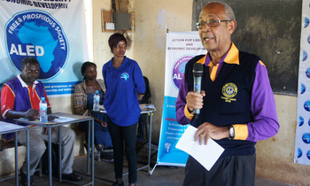 A1byatike matovu the former mp for entebbe municipality sensitising the youths on dangers of drug mis use 350x210