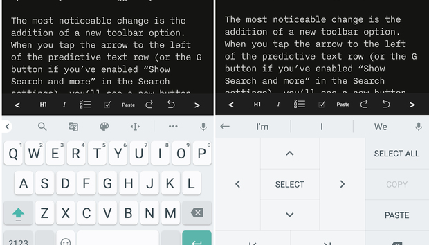 Gboard update brings text selection mode and resizing to