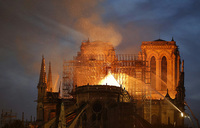 Paris stunned as fire ravages Notre-Dame cathedral