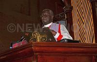 Bishop Muhima lauds former Attorney General Peter Nyombi
