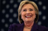 Clinton makes history as Democratic presidential