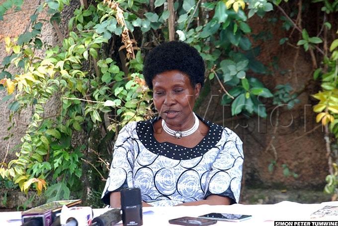 argaret amubiru wabushaija orkers  addressing journalists at  headoffice in awempe