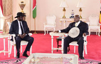 Museveni, Kiir hold private talks at Entebbe