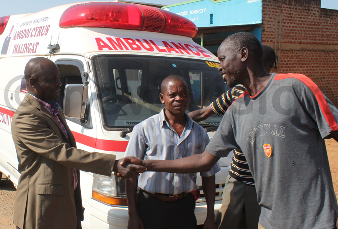 modoi handing over an ambulance he donated in 2015 hoto by odfrey jore