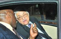 Palestinian president Mahmoud Abbas in Uganda