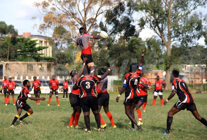 uffaloes player in ed wins a line out during their league against irates irates won 165 y