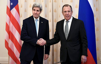 Kerry in Moscow to push Syria peace plan