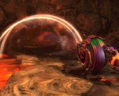 Check out this exclusive look at Guild Wars 2's jaw-dropping Infernal Leap roller beetle track